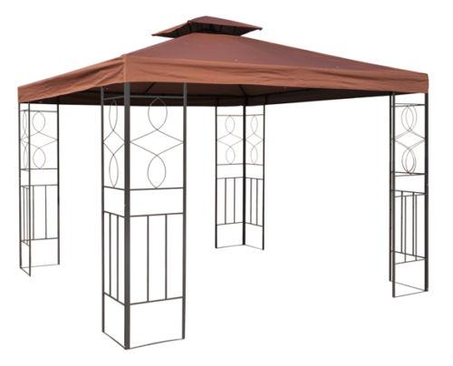 romantika wasserdicht pavillon 3x3m wasserfest metall festzelt dach zelt garten ebay. Black Bedroom Furniture Sets. Home Design Ideas