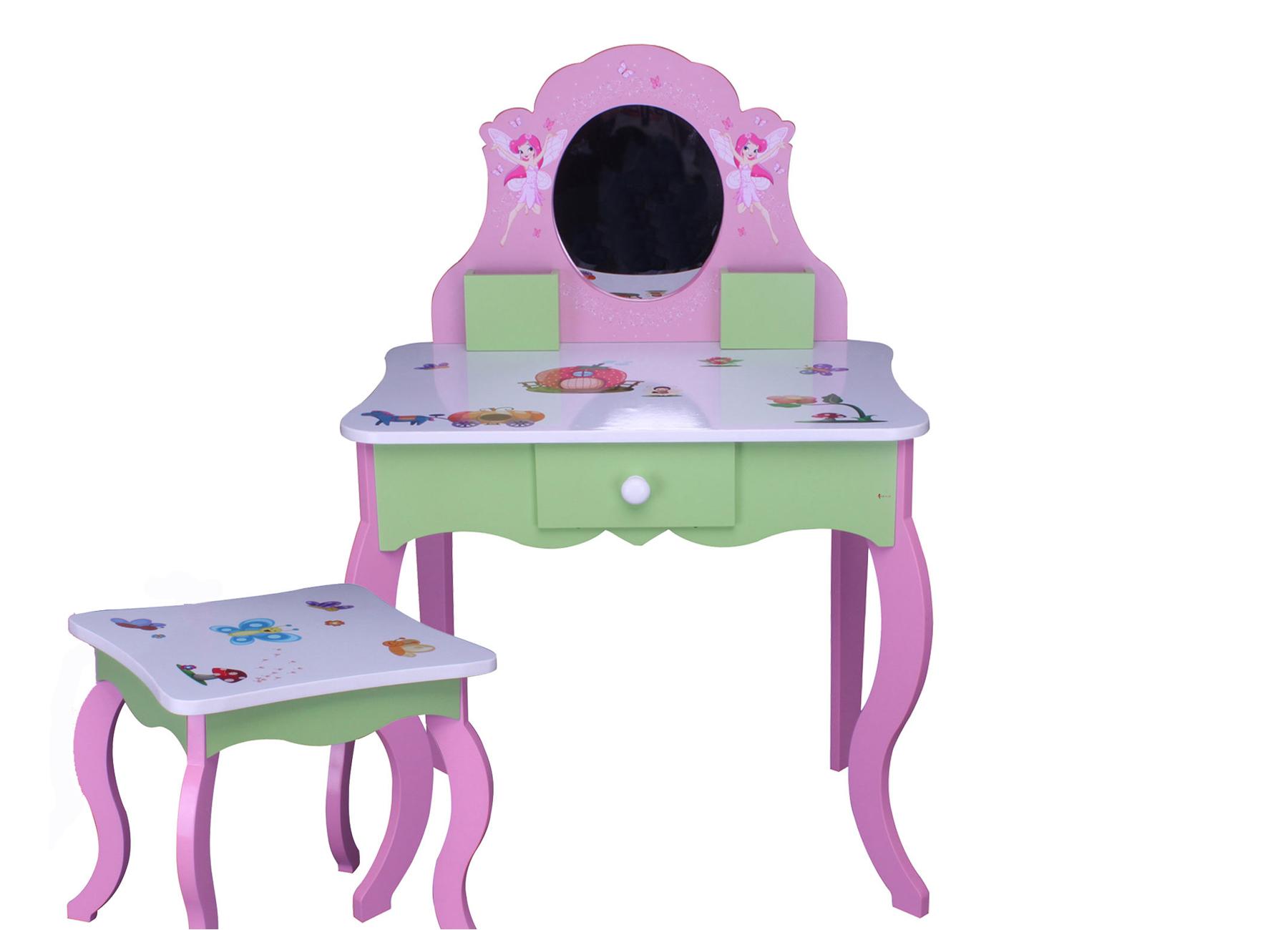 kinder schminktisch rosa 426 kindertisch frisiertisch kommode spiegel tisch holz ebay