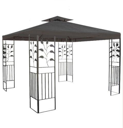 pavillon wasserdicht toskana zelt 3x3 m wasserfest metall festzelt dach garten ebay. Black Bedroom Furniture Sets. Home Design Ideas