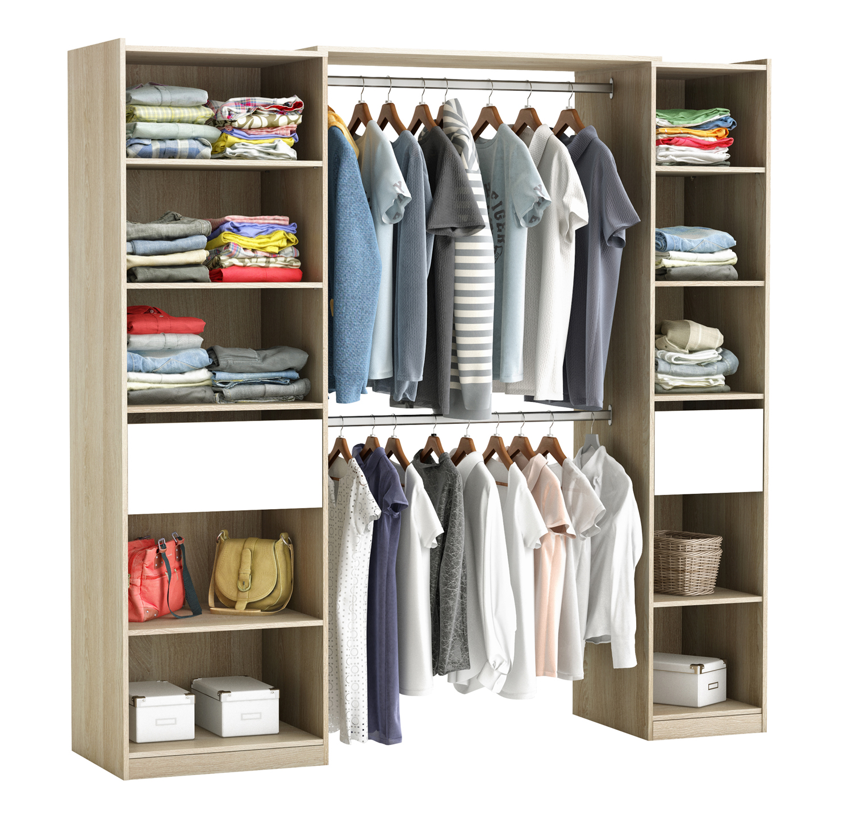 riesiger kleiderschrank 5077 begehbar offen garderobe schrank regal schublade ebay. Black Bedroom Furniture Sets. Home Design Ideas