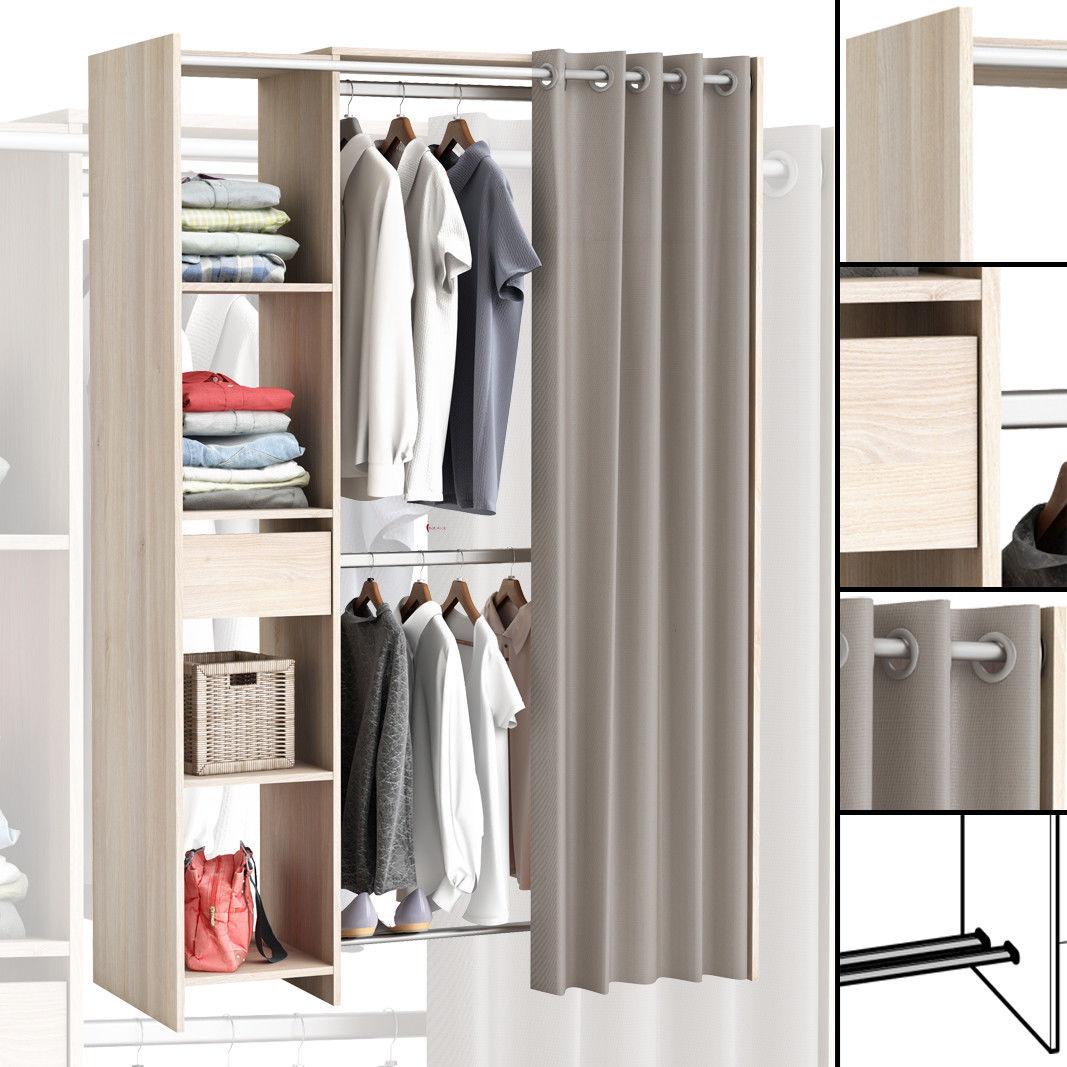 grosser kleiderschrank 897 begehbar offen garderobe schrank regal schublade neu ebay. Black Bedroom Furniture Sets. Home Design Ideas