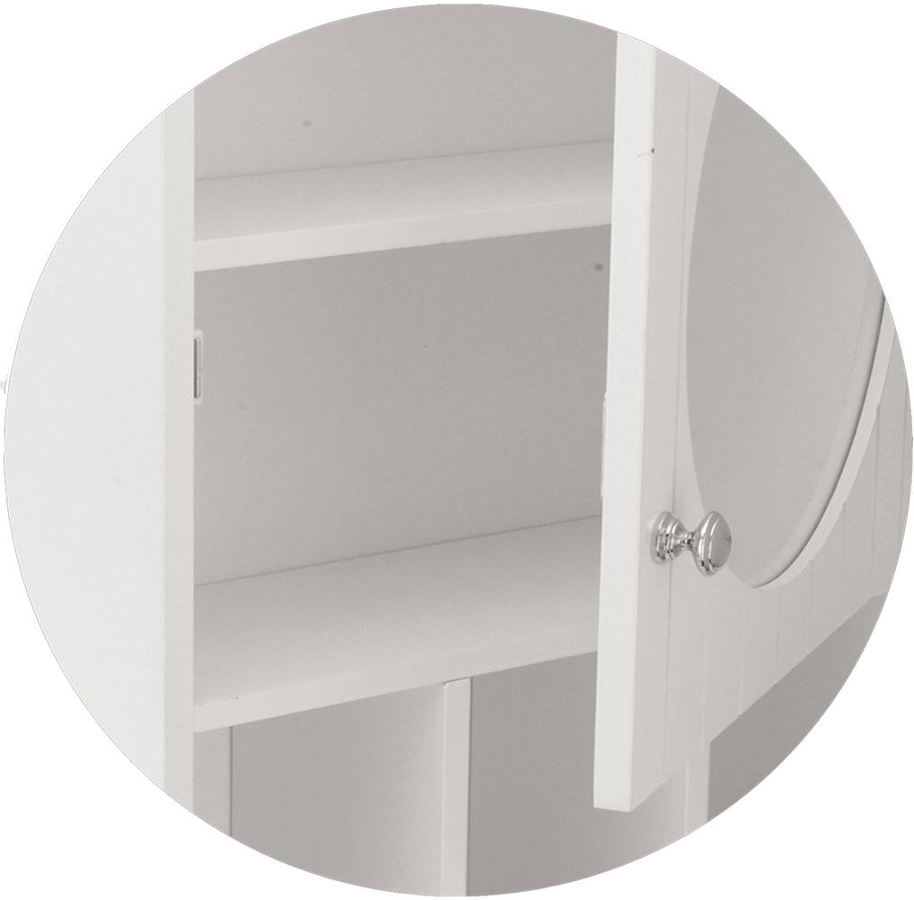 Spiegelschrank Weiß Badezimmerschrank Spiegel